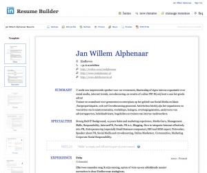 Je linkedIn profiel omzetten naar een CV | Linkedinpro.nl