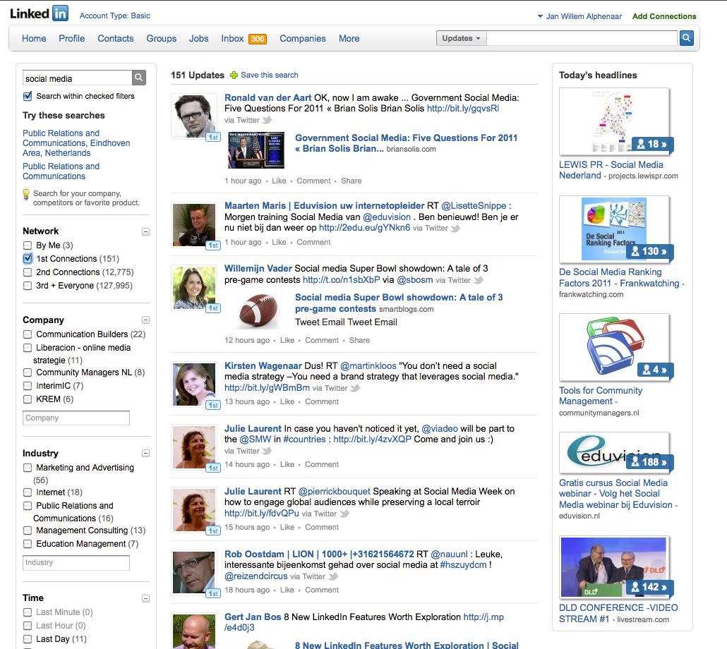 LinkedIn Signal – zoeken in status updates     Lezingen ...